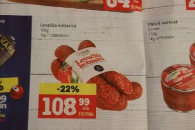 serbskie produkty - kiełbasa