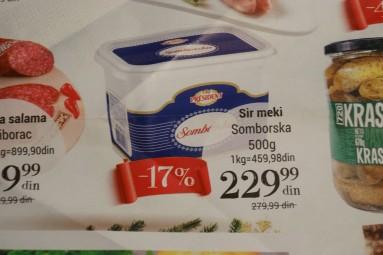 serbskie produkty - ser somborski