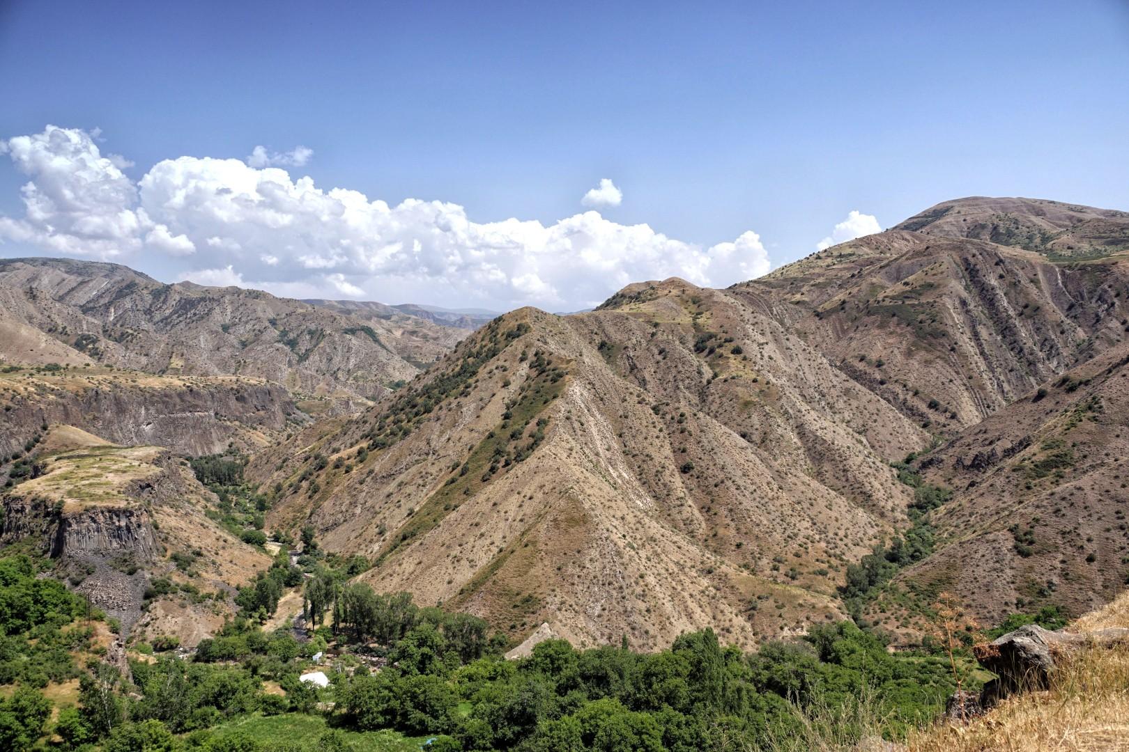 Wyżyna armeńska koło Garni