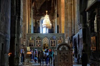 Wnętrza katedry Sweti cchoweli