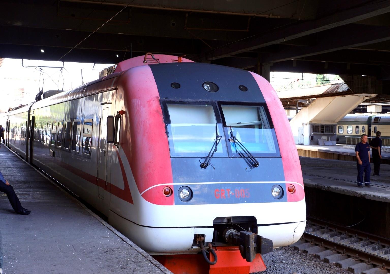 pociąg relacji Poti - Tbilisi