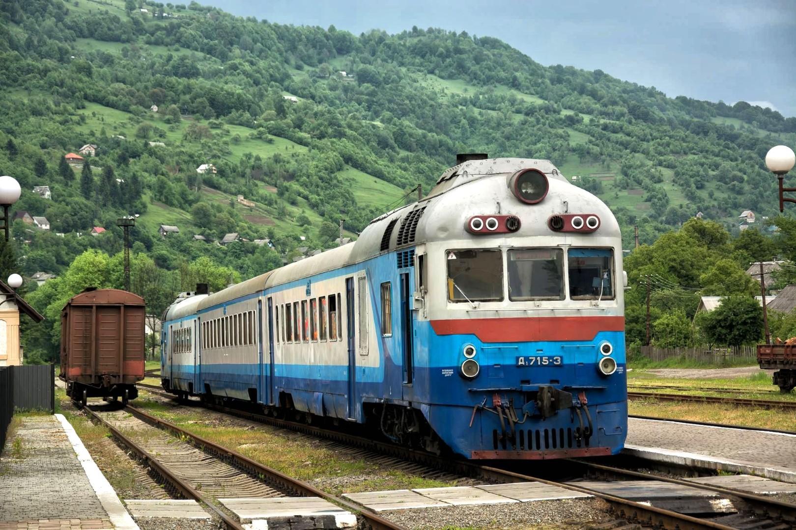 Pociąg lokalny w Rachowie