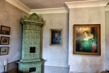 Zamek Grabstejn ma piękne wnętrza :)