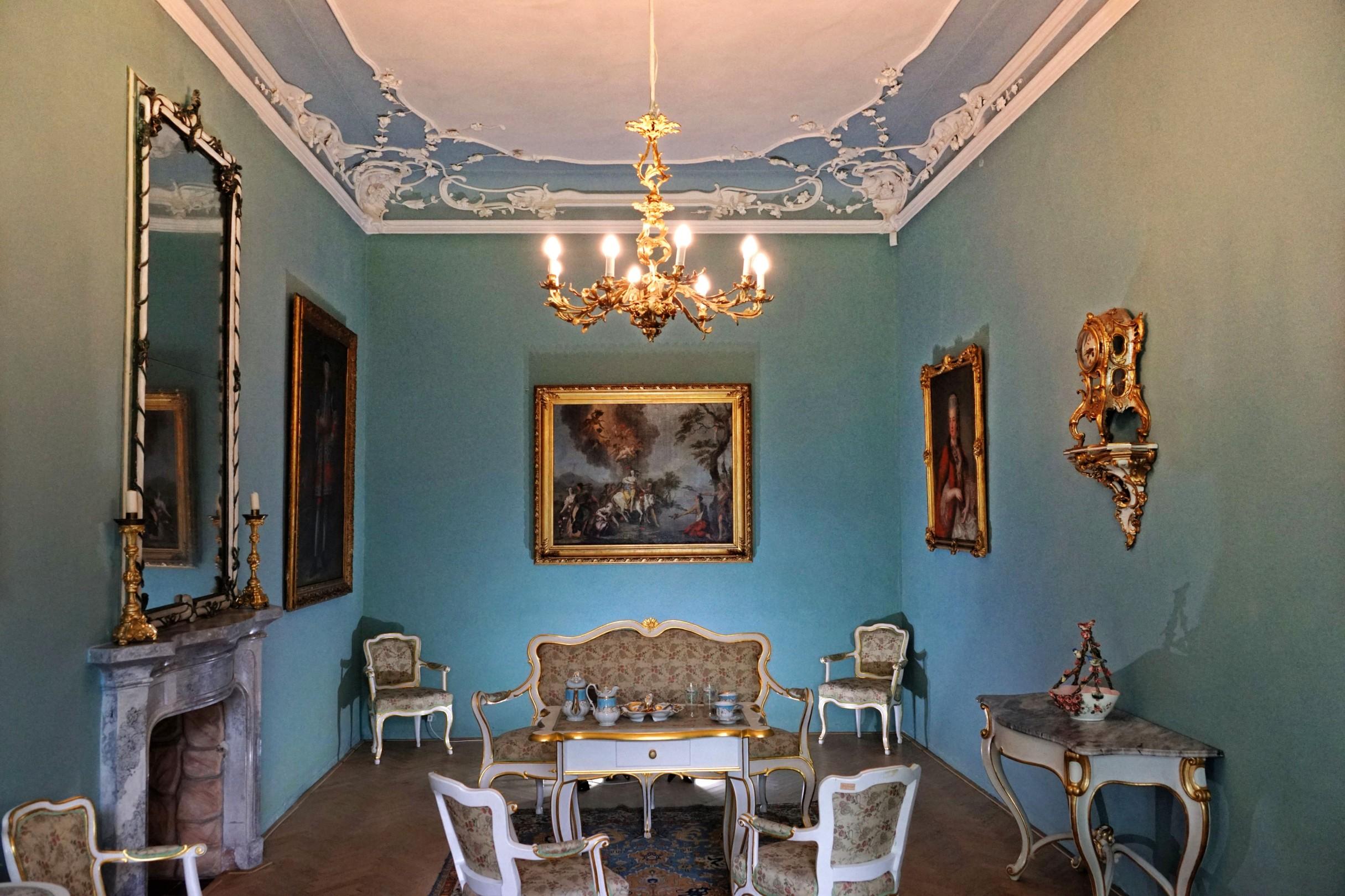 Wnętrza zamku w Bruntalu