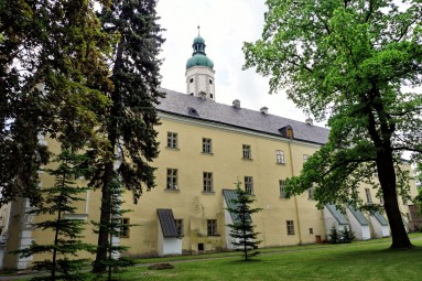 Zamek w Bruntalu od strony ogrodów zamkowych
