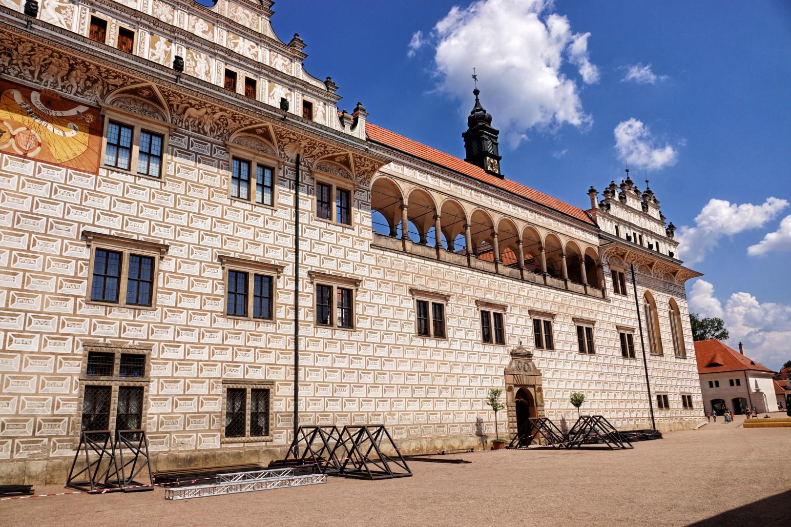 Piękny zamek w Litomyślu