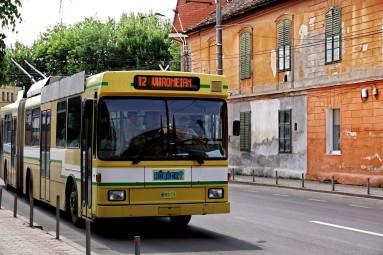 Medias przywitał mnie trolejbusem koło dworca