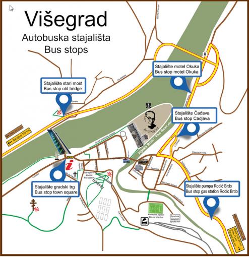Przystanki autobusowe w Visegradzie
