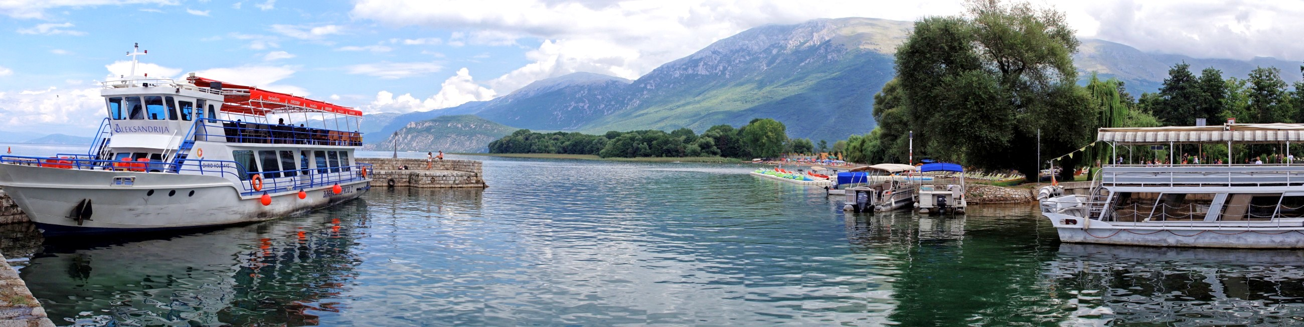 Jezioro Ochrydzkie w sierpniu