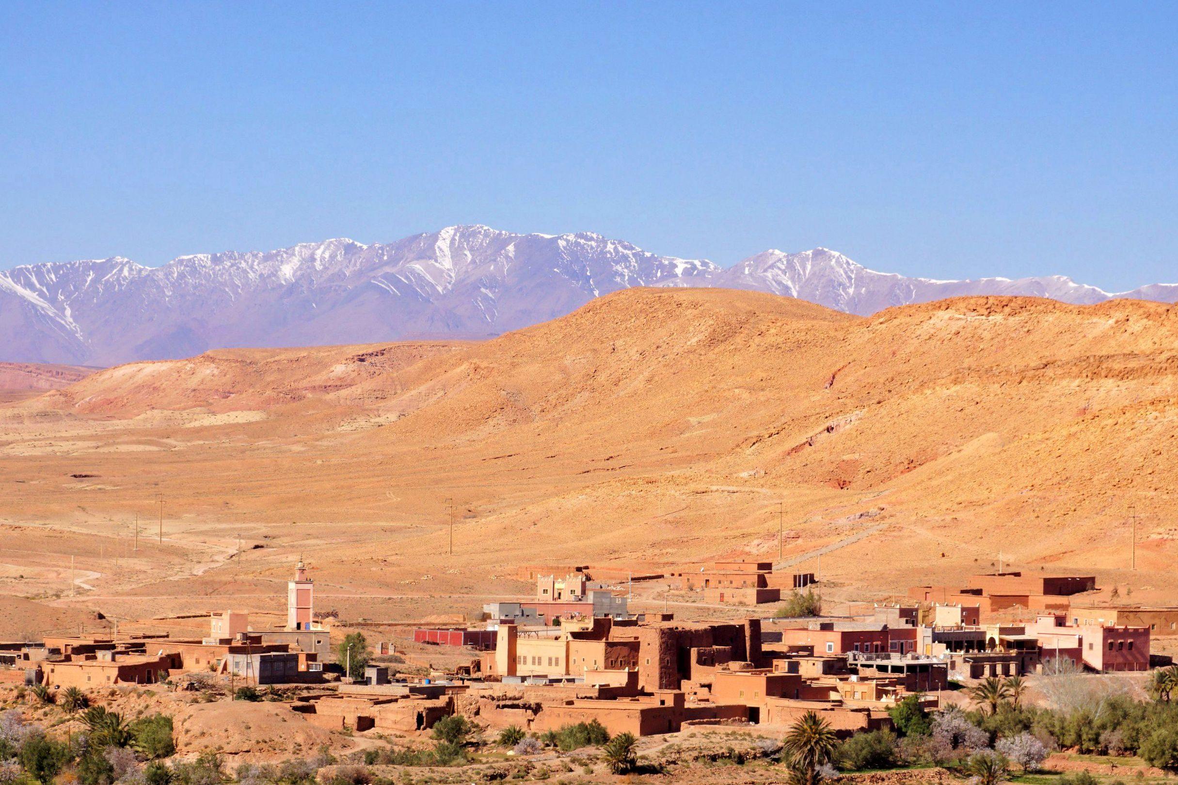 Gdy wspięliśmy się na szczyt wzgórza, na którym leży Ait Bin Haddou