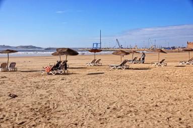 Essaouira to także piękna plaża nad Atlantykiem