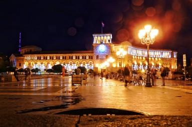 Erywań nocą - tutaj Plac Republiki