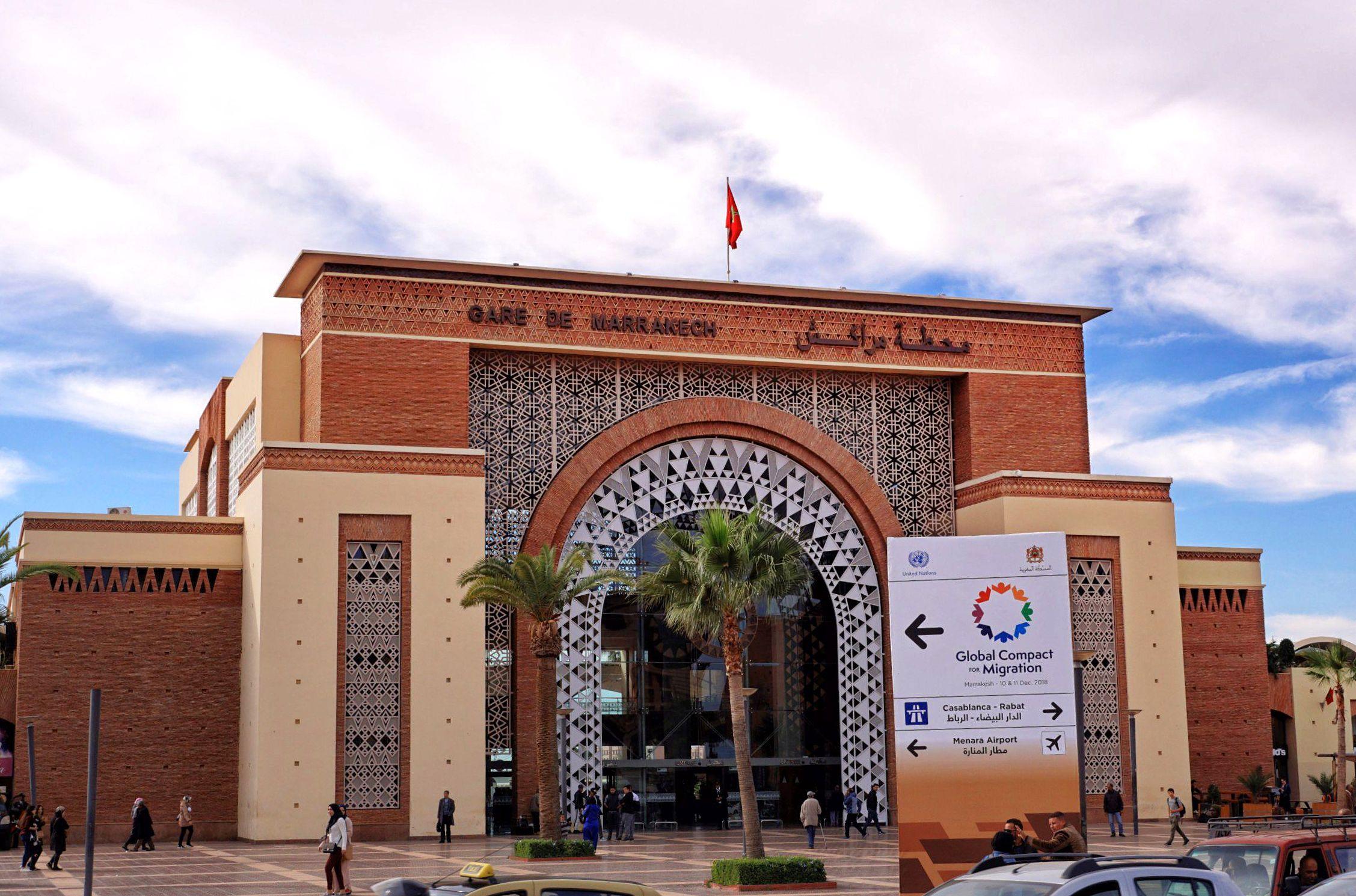 Dworzec kolejowy w Marrakeszu