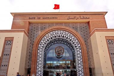 Dworzec kolejowy ONCF w Marrakeszu.