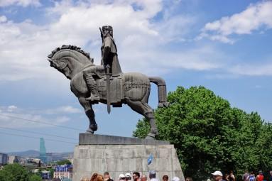 Pomnik króla Wchtanga Gorgasaliego Tbilisi