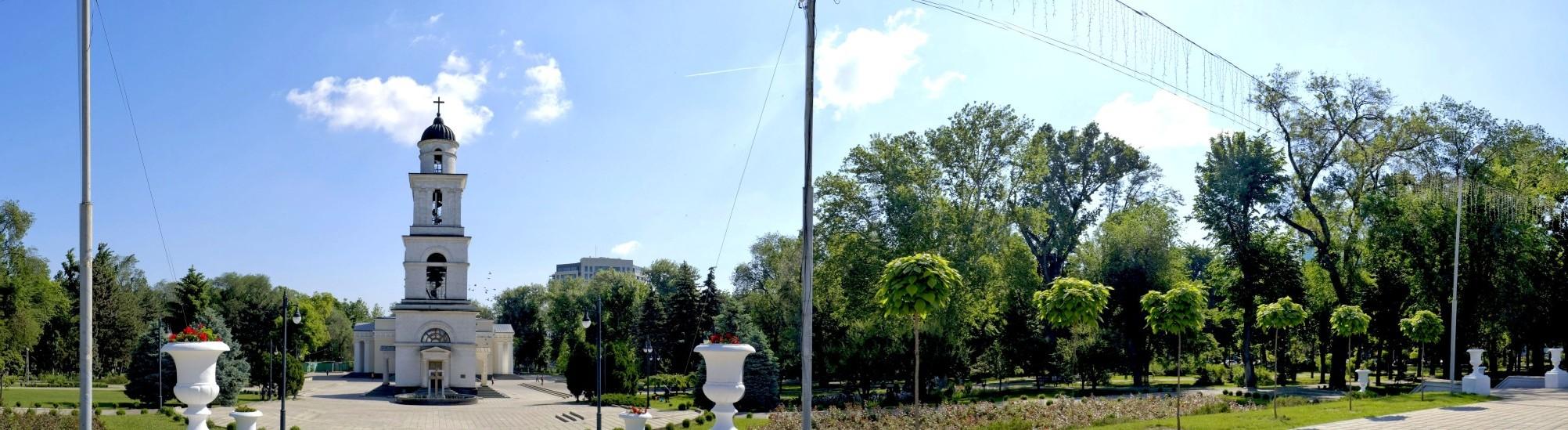 Kiszyniów i serce miasta w panoramie