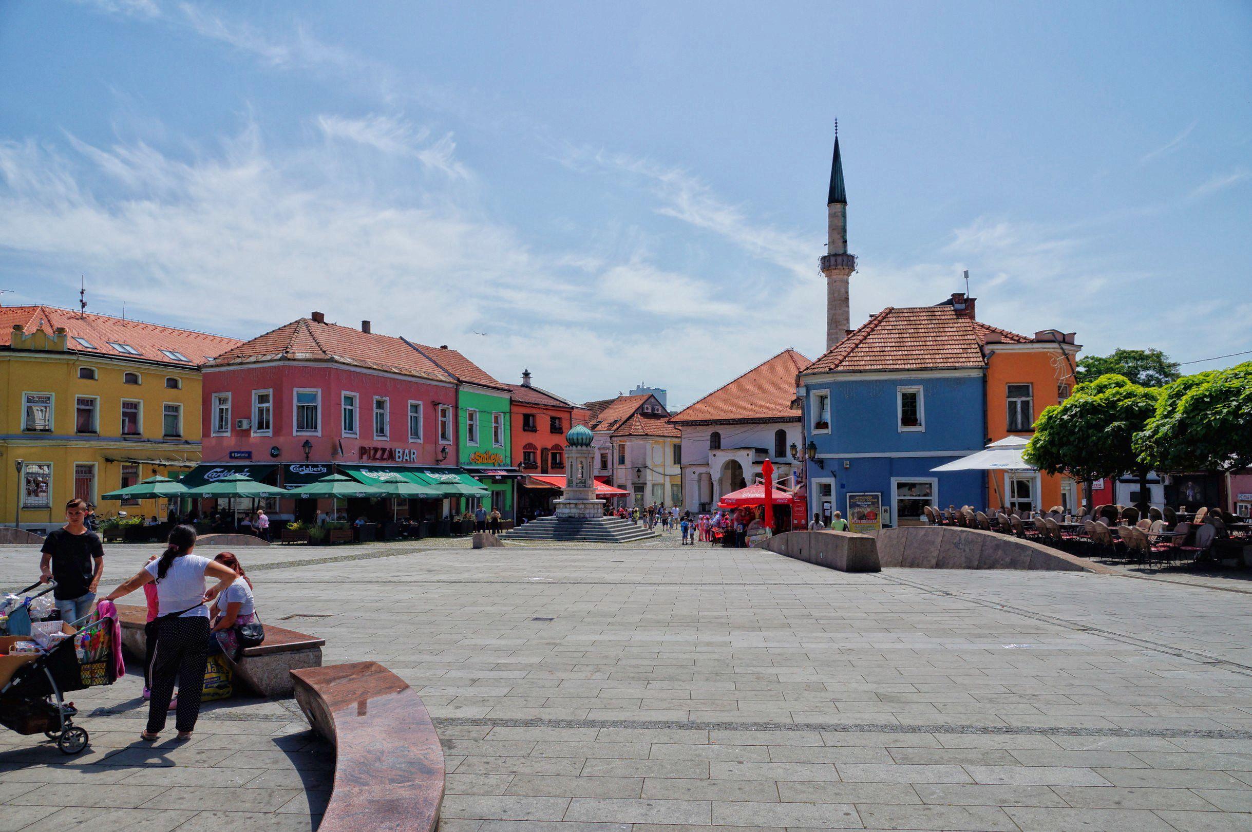 Tuzla i jej serce - rynek starego miasta