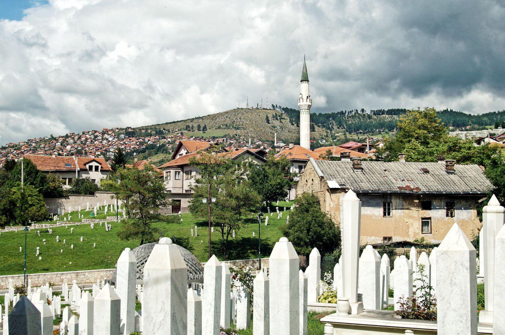 Cmentarz na Kovacima gdzie leżą polegli podczas oblężenia Sarajewa