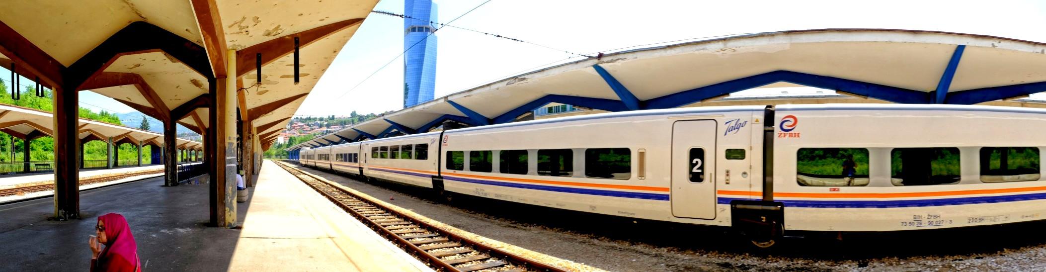 Atrakcje Sarajewa to dla mnie także sarajewski dworzec kolejowy